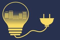 Energy city Stock Photo