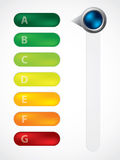Energy class display with adjustable button Royalty Free Stock Photos