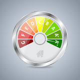 Energy class gauge design Royalty Free Stock Image