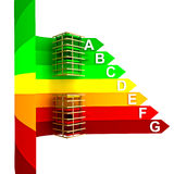 Energy class rating energy concept of new building vector illustration
