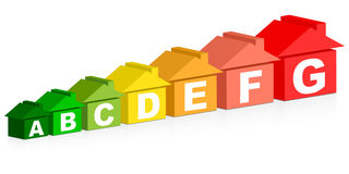 Energy classification. Made of houses Royalty Free Stock Photography