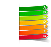 Energy classification in the form of a sticker Stock Image
