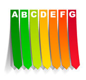 Energy classification in the form of a sticker. It is an energy classification in the form of a sticker vector illustration
