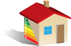 Energy classification house Royalty Free Stock Photo