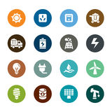 Energy Color Icons. A collection of different kinds of energy color icons. It contains hi-res JPG, PDF and Illustrator 9 files Royalty Free Stock Photos