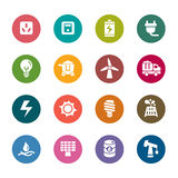 Energy Color Icons. A collection of different kinds of energy color icons. It contains hi-res JPG, PDF and Illustrator 9 files Royalty Free Stock Image