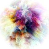 Energy of Color Splash Explosion royalty free illustration