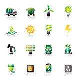 Energy Colorful Icons Stock Photography