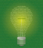 Energy concept. Green energy conceptual background whith words Stock Photography