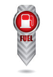 Energy concept with fuel station Stock Images