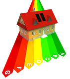 Energy concept of new energy save construction. Illustration Stock Photo