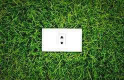 Energy concept outlet in fresh spring Stock Photos