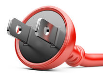 Energy concept. red electric plug Stock Photo