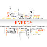 Energy concept related words in tag cloud Royalty Free Stock Image