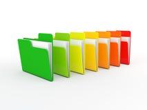 Energy concert folders Stock Image