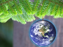 Energy conservation eco friendly Christmas Royalty Free Stock Images