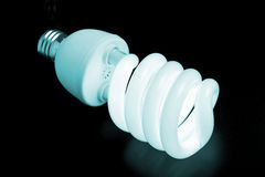 Energy conservation light bulb Stock Image