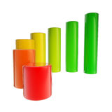 Energy consumption dimensional bar graph Royalty Free Stock Photo