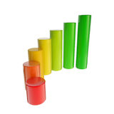 Energy consumption dimensional bar graph Royalty Free Stock Images