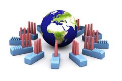 Energy consumption(europe) Royalty Free Stock Image