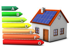 Energy Consumption House Royalty Free Stock Photo