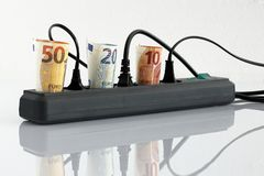 Energy costs and electricity prices. The Energy costs and electricity prices stock photography