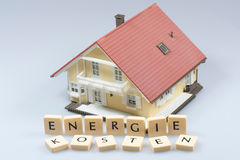 Energy Costs Model House Stock Photos