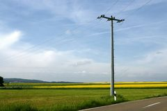 Energy in the countryside Royalty Free Stock Photos