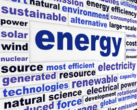 Energy creative words design Stock Images