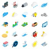 Energy crisis icons set, isometric style. Energy crisis icons set. Isometric set of 25 energy crisis vector icons for web isolated on white background Stock Images
