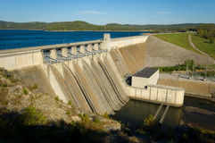 Energy Dam at a lake Royalty Free Stock Photo