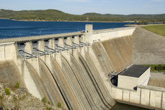 Energy Dam on Lake royalty free stock images