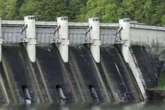 Energy Dam at a lake Stock Photography