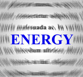 Energy Definition Represents Power Source And Powered Stock Photo