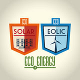 Energy design. Over beige background, vector illustration Royalty Free Stock Photography