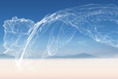 Energy design over landscape. Under blue sky Stock Images