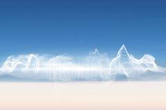 Energy design over landscape. Under blue sky Royalty Free Stock Images