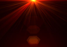 Energy discharge. High energy discharge. Light rays Royalty Free Stock Images