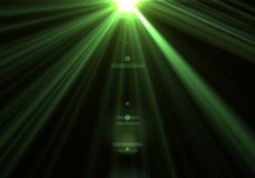 Energy discharge. High energy discharge. Light rays Stock Image