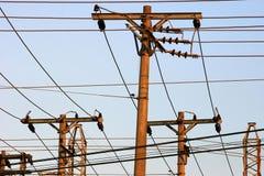 Energy distribution - Posts Royalty Free Stock Image