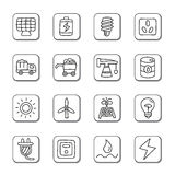 Energy Doodle Icons Royalty Free Stock Photography