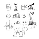 Energy drawing icons Stock Photo