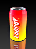 Energy Drink. Aluminum Energy Drink Can. Made in 3D Stock Photos