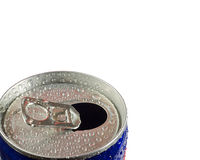 Energy drink. Shot of the top of an energy drink opened with water droplets on it Stock Images