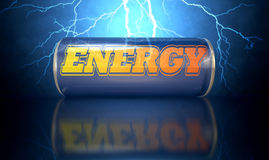 Energy Drink Can Royalty Free Stock Photography