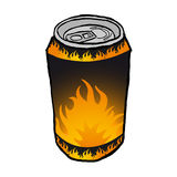 Energy drink can Stock Image