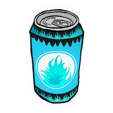 Energy drink can Royalty Free Stock Photos