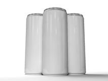 Energy drink cans Stock Images