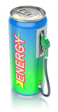 Energy drink concept Royalty Free Stock Photos