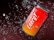 Energy drink. 3d illustration of energy drink. Shallow depth of field Stock Photos